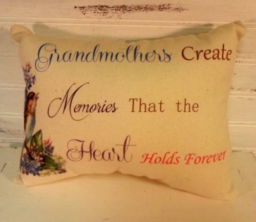 Handmade Grandmother Gift Pillow