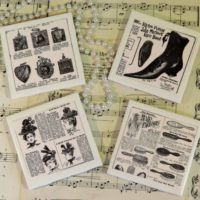 Steampunk Vintage Victorian Ceramic Tile Coaster Set