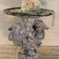 Upcycled Hollywood Regency Cherub Pedestal