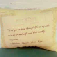 Romantic Jane Eyre Handmade Pillow