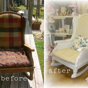 Before and After Rocking Chair Makeover