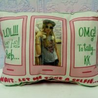 Personalized Cell Phone Selfie Pillow