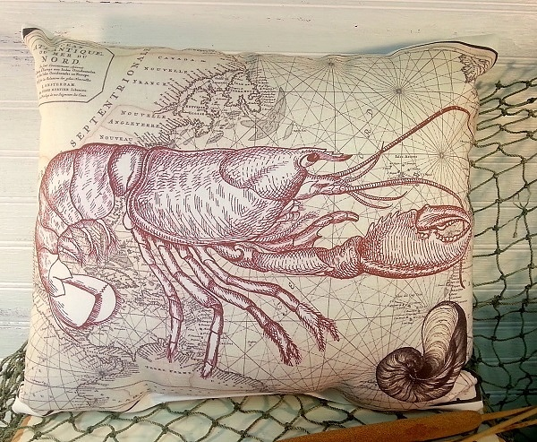 Handmade Lobster Pillow