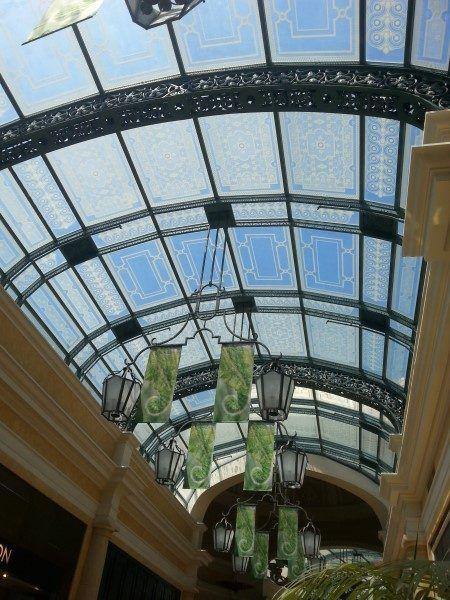 Las Vegas Bellagio Hotel Glass Ceiling