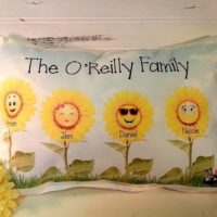 Personalized Sunflower Emoji Family Pillow