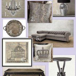 Elegant Living Room Mood Board by Arhaus