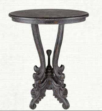 Black Distressed Merle End Table