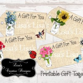 Printable Country Mason Jar Gift Tags