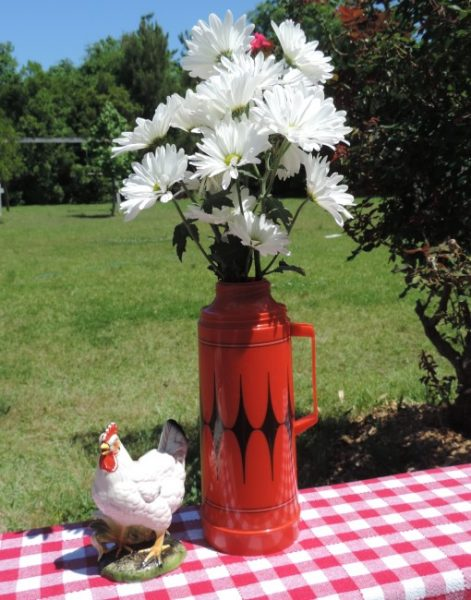 Clever Flower Containers Vintage Thermos Vase