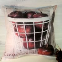 Handmade Country Life Apple Basket Pillow