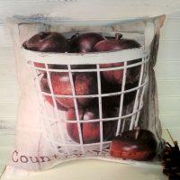 Handmade Country Life Apple Basket Pillow