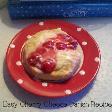 A Cherry Cheese Danish Recipe That's Easy and Delicious