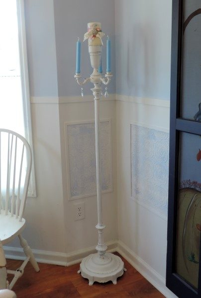 Upcycled Torchiere Lamp Candelabra