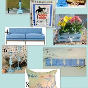 Pretty Beach Style Living Rooms With Touches Of Turquoise