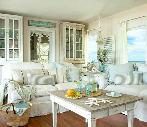 Shabby Chic Beach Style Living Room