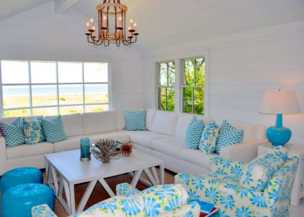 Turquoise Beach Style Living Rooms