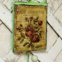 Shabby Vintage Cottage Rose Wall Hook