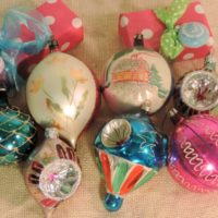 Vintage Retro Kitsch Christmas Tree Ornaments