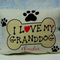 Handmade Personalized I LOVE MY GRANDDOG Gift Pillow