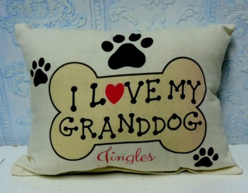 Personalized I Love My Granddog Gift Pillow