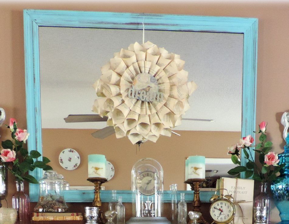 Large Turquoise Shabby Chic Mirror