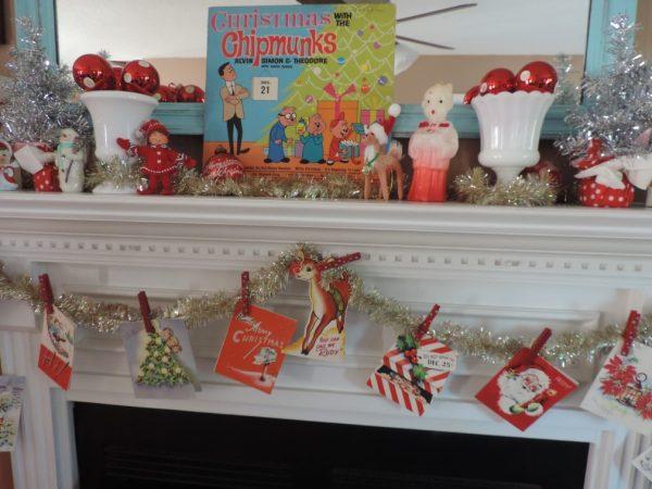 Vintage Christmas Mantel Decorations : Decorating a kitschy retro vintage christmas mantel