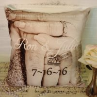 Personalized Wedding Photo Pillow