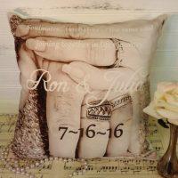 Personalized Wedding Photo Pillow