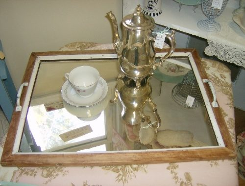 Upcycled Vintage Mirror Serving Tray