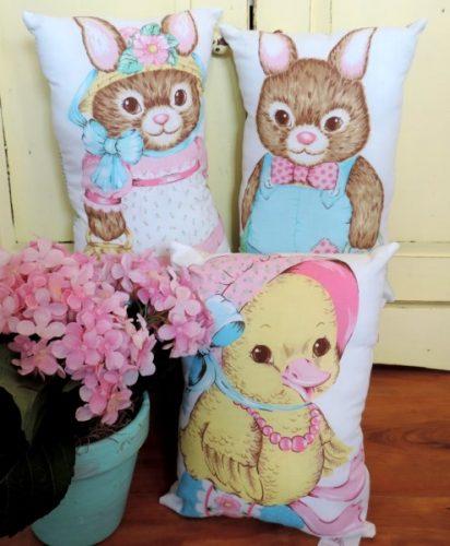 Handmade Easter Pillows