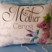 Handmade Sentimental Hummingbird Mother Gift Pillow
