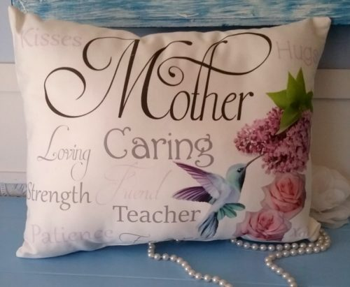 Sentimental Hummingbird Mother Gift Pillow