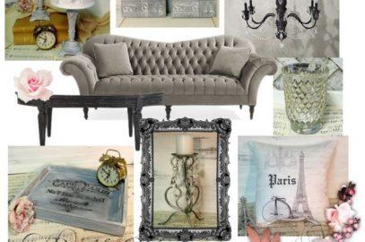 Mood Board Monday: A Paris Chic Living Room