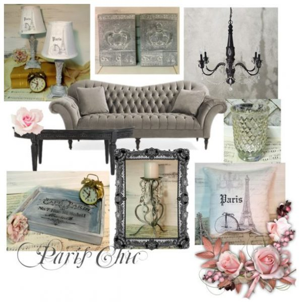 Paris Chic Living Room Mood Board