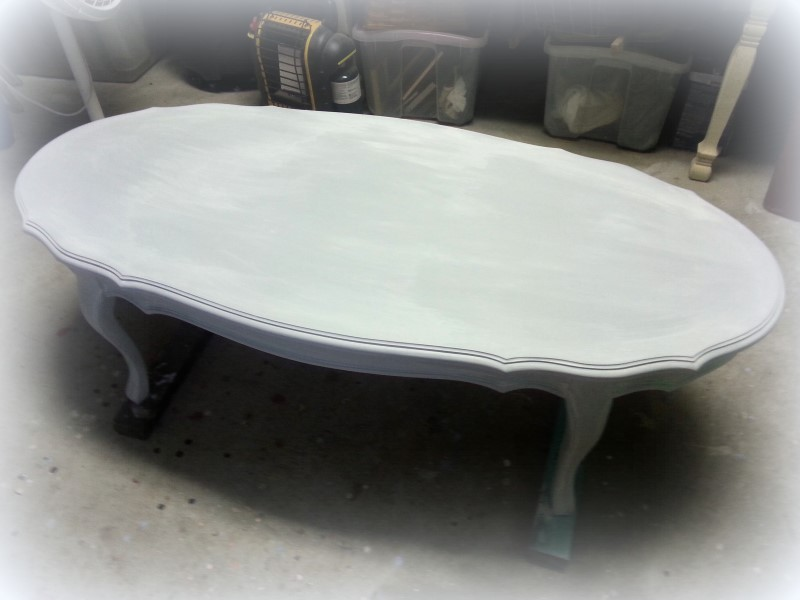 Painted Grey French Provincial Coffee Table