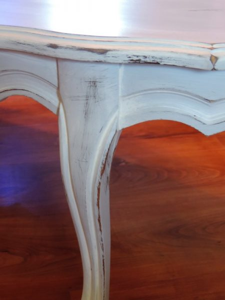 Distressed Paris Inspired French Coffee Table