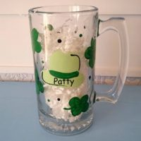 Personalized St. Patrick's Day Shamrock Beer Glass Beer Stein