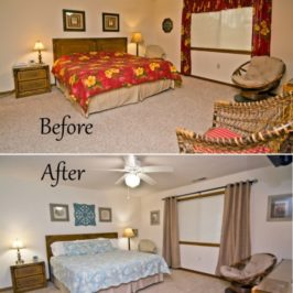 Before and After Vacation Beach Master Bedroom Makeover In Emerald Isle, NC