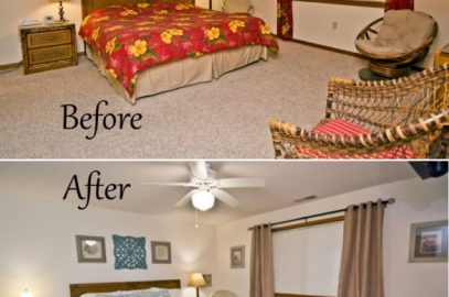 A Coastal Vacation Home Master Bedroom Makeover