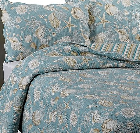 Natural Shells Coastal Quilt From Bed Bath and Beyond