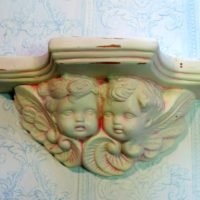 Shabby Chic Pink Cherub Angel Shelf