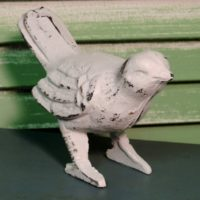 White Shabby Chic Bird Figurine Spring Decor