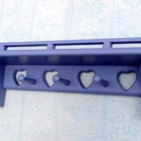 Lilac Purple Country Heart Wall Shelf Girl's Room Decor