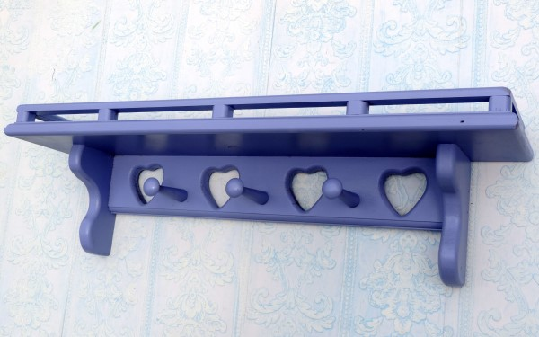 Lilac Purple Country Heart Wall Shelf Girl's Room Decor
