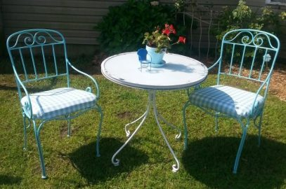 An Upcycled Outdoor Bistro Set For A Cottage Inspired Garden