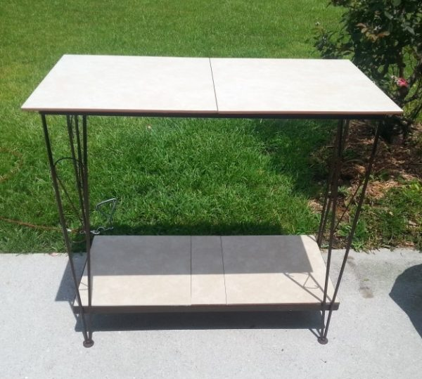 Upcycled Fish Tank Stand Outdoor Table