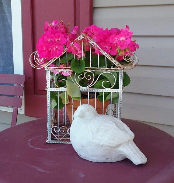 Vintage Bird Cage Planter