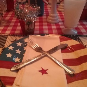 A Vintage Inspired Patriotic Fourth Of July Tablescape