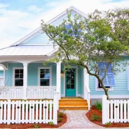Turquoise Vintage Beach Cottage