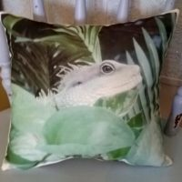 Iguana Lizard Nature Throw Pillow